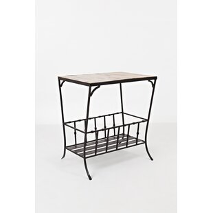 Mccammon Wood and Metal End Table
