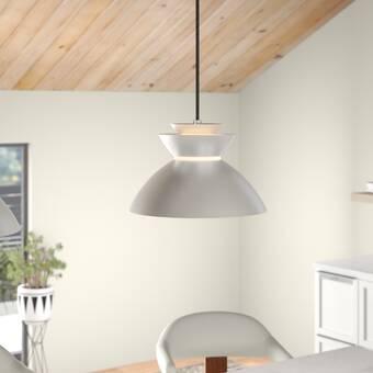 Giselle 1 Light Single Bell Led Concrete Pendant Reviews Allmodern