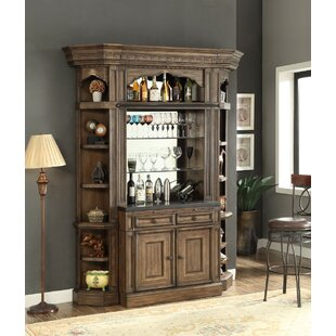Bishop 2 Piece Bar Base and Hutch by Astoria Grand