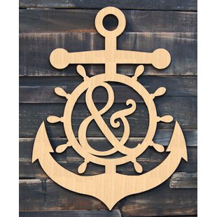Anchor Wheel Wooden Decorative Sign, Door Hanger and Wall D?cor by aMonogram Art Unlimited