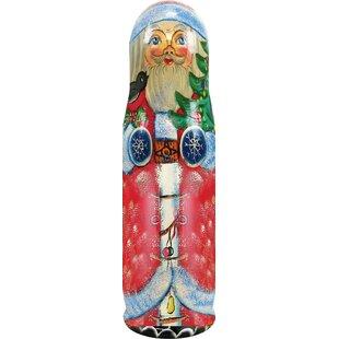 The Holiday Aisle Fifer Santa Tree 1 Bottle Tabletop Wine Rack