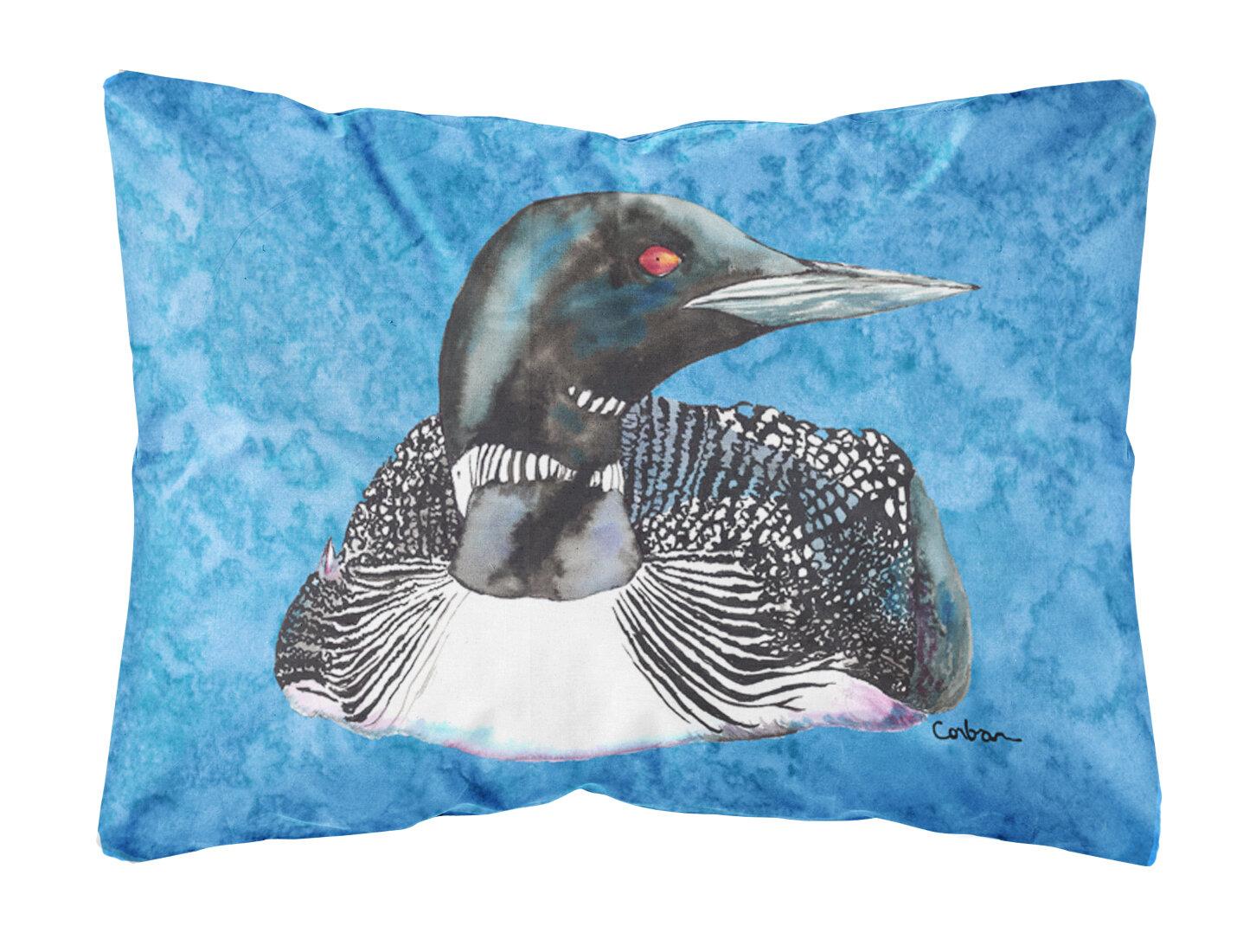 Caroline S Treasures Loon Indoor Outdoor Throw Pillow Wayfair