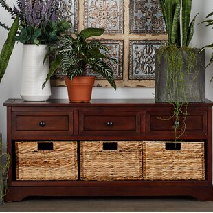 Andover Mills Ottilie 6 Drawer Wood Wicker Basket Accent Chest