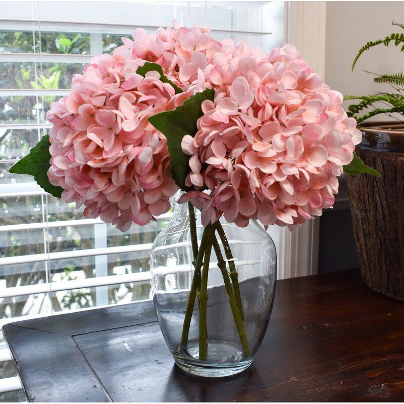 August Grove Hydrangea Pick Floral Arrangements And Centerpieces Reviews Wayfair