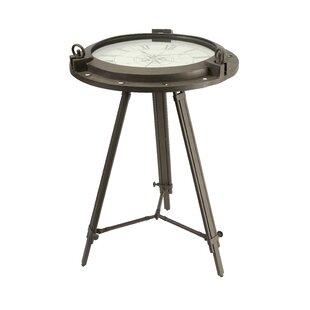 Williston Forge Melancon Tripod Clock End Table
