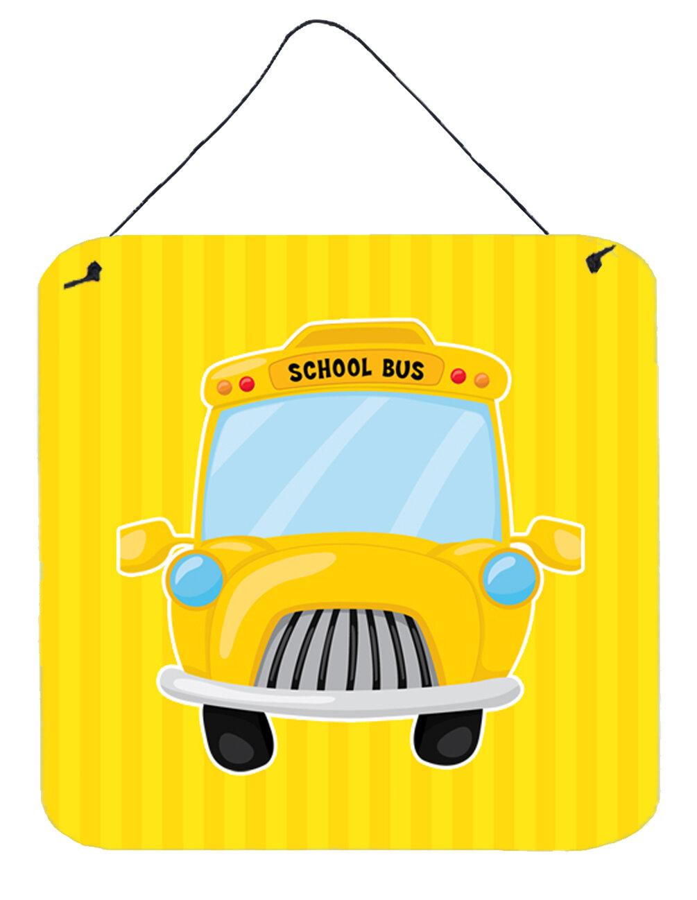 Zoomie Kids School Bus Aluminum Wall Décor | Wayfair