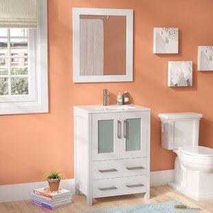 Lezlie 24 Single Bathroom Vanity Set with Mirror by Ivy Bronx