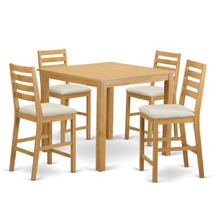 Cafรฉ 5 Piece Counter Height Dining Set by Wooden Importers