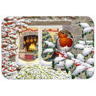 European Robin Glass Cutting Board