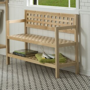 Beaumont Wood Storage Bench by New Ridge Home Goods