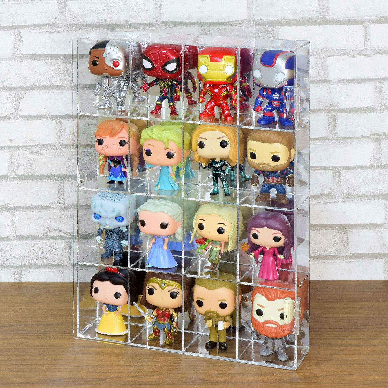 Dustproof Acrylic Display Case Clear Storage Holder Box for Figure Doll Toys