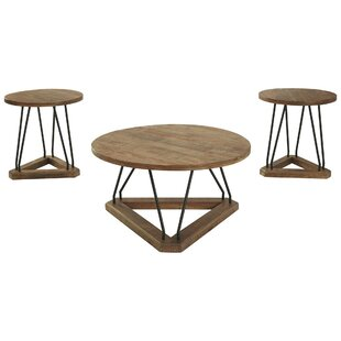 Goodlow 3 Piece Coffee Table Set by 17 Stories
