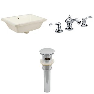 Affordable CUPC Ceramic Rectangular Undermount Bathroom Sink with Faucet and Overflow ByRoyal Purple Bath Kitchen