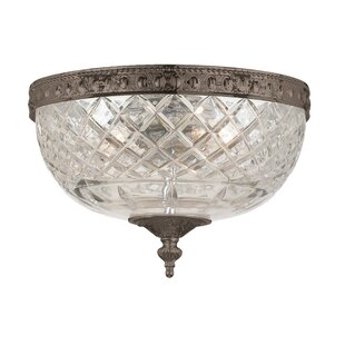 Waddell 2-Light Flush Mount by Fleur De Lis Living