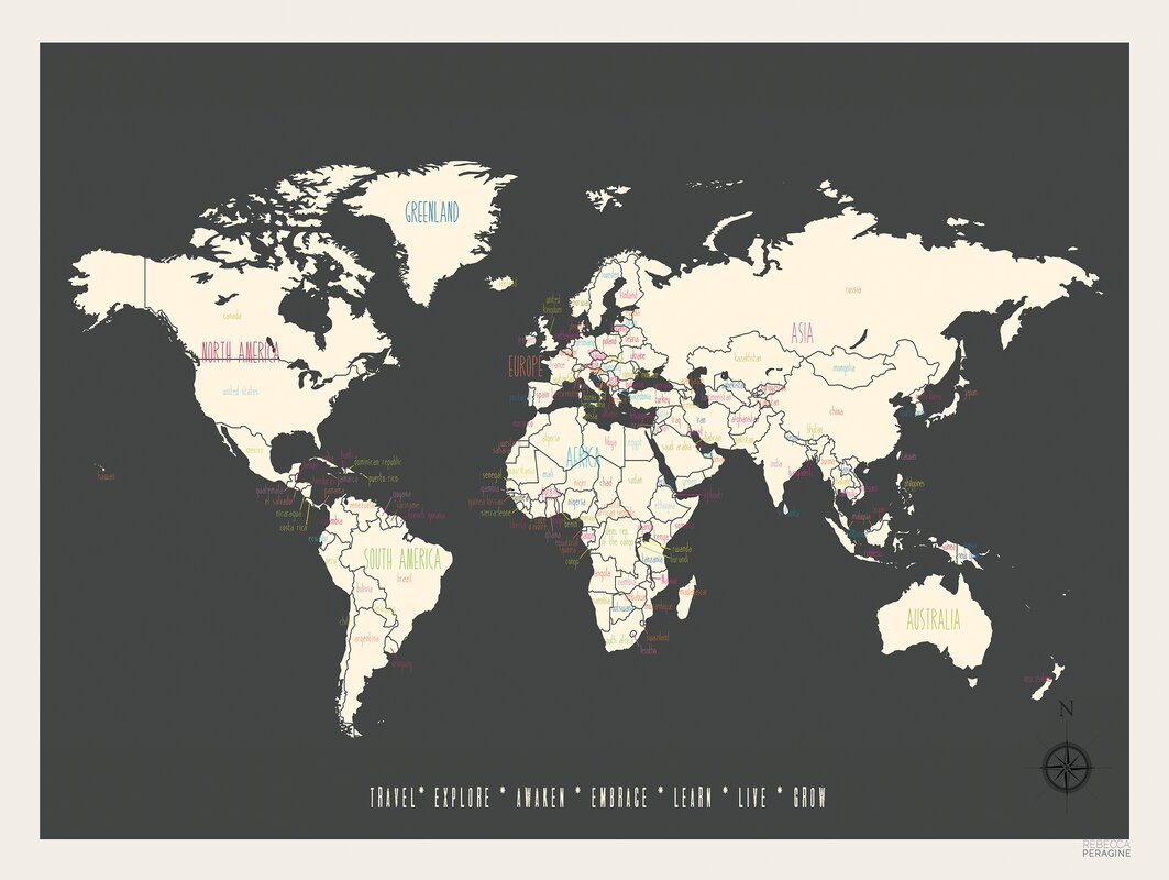 Zoomie kids personalized world travel map graphic art reviews personalized world travel map graphic art gumiabroncs Images