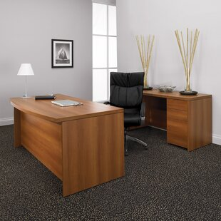 Correlation 2-Piece Desk Office Suite by Global Total Office Today Only Sale