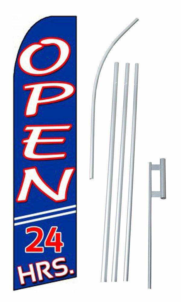 Neoplex Open 24 Hours Polyester 180 X 30 In Flag Set Wayfair
