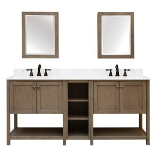 Aiden Bath 2-Shelf Modular Component Double Bathroom Vanity Base Only by Sunnywood