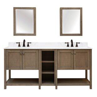 Aiden Bath 2-Shelf Modular Component for Double Bathroom Vanity Base By Sunnywood