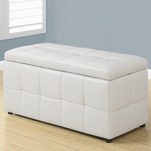 Faux Leather Storgae Ottoman by Monarch Specialties Inc.