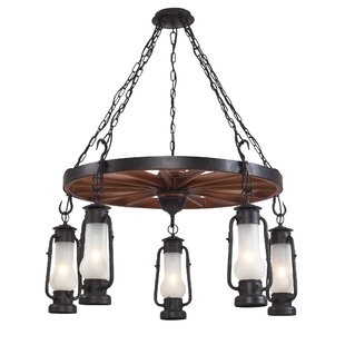 Longshore Tides Burks 5-Light Outdoor Chandelier