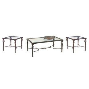 Fleur De Lis Living Nixa 3 Piece Coffee Table Set