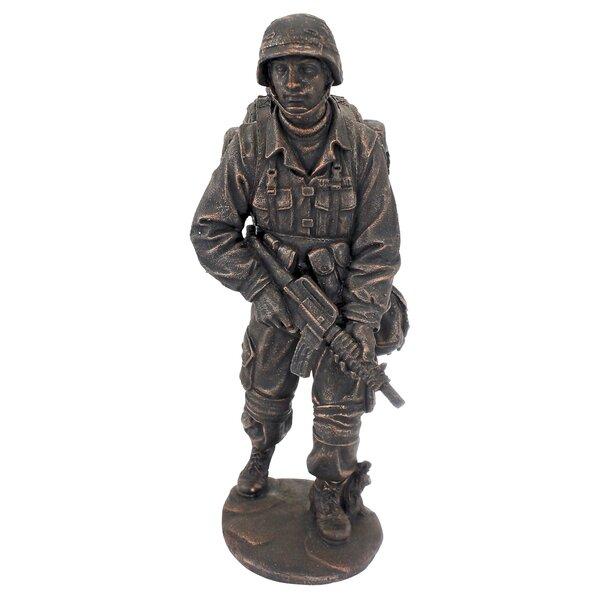 Saluting Soldier Silhouette Lifesize Cardboard Cutout Standup Commemorative
