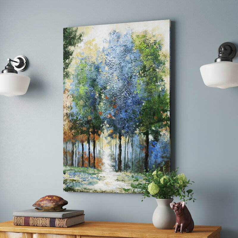 Pretty Wall Art - 'Afternoon Light' - Oil Painting Wrapped Canvas Print
