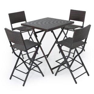 Kerr 5 Piece Bar Height Dining Set by Latitude Run Comparison