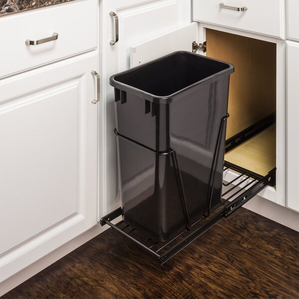Hardware Resources Steel Pull Out Under Counter Trash Can Holder Reviews Wayfair