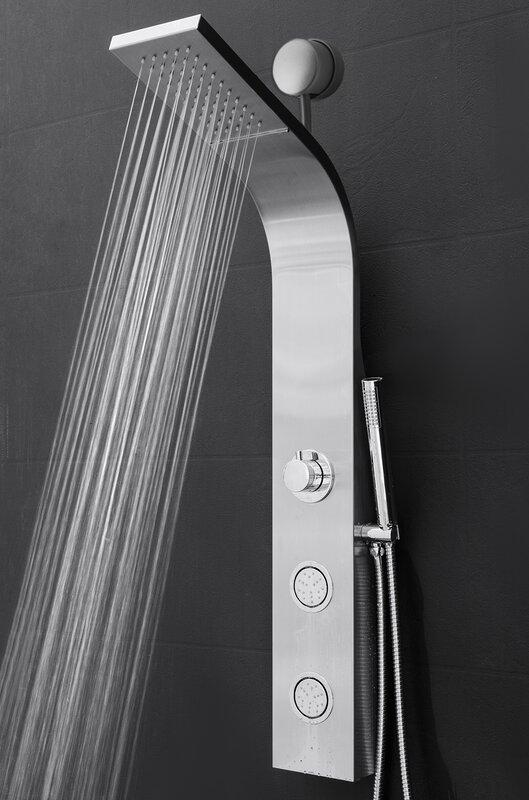 Charmant Temperature Control Rain Shower Head Shower Panel   Includes Rough In Valve