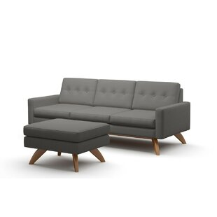Luna Loft Sofa And Ottoman by TrueModern No Copoun