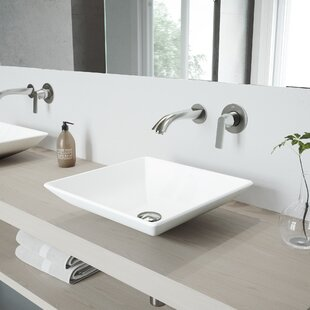 Reviews Hibiscus Stone Square Vessel Bathroom Sink with Faucet By VIGO