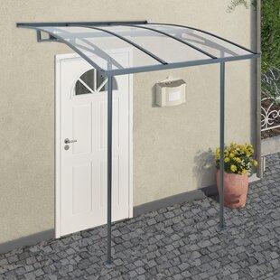 Vega 2000 2m W x 1.9m D Door Canopy & Awnings u0026 Door Canopies   Wayfair.co.uk