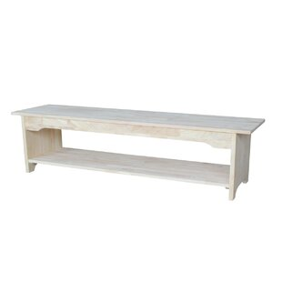 Belwood Wood Bench by Beachcrest Home
