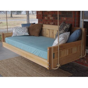 Longview Hanging Daybed Rope Porch Swing by Millwood Pines