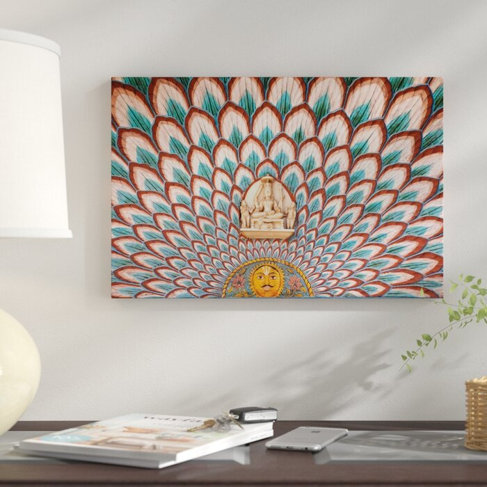 Interior Décor City Palace Jaipur Rajasthan India Graphic Art Print On Canvas