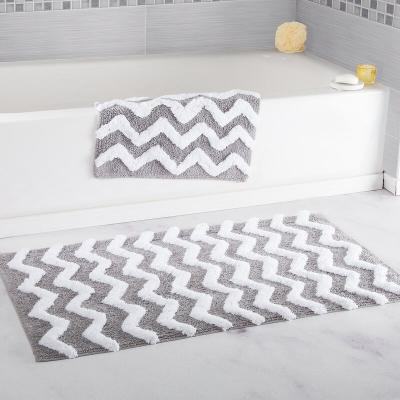 Lavish Home Chevron Bath Rug Reviews