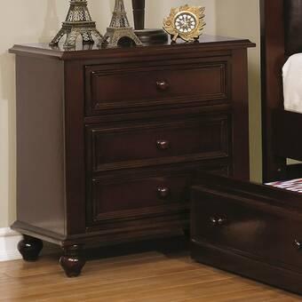 Harriet Bee Scaggs 3 Drawer Nightstand Wayfair