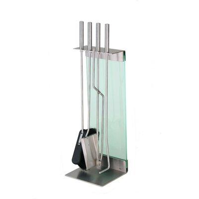 Conmoto Teras 5 Piece Stainless Steel Fireplace Tool Set