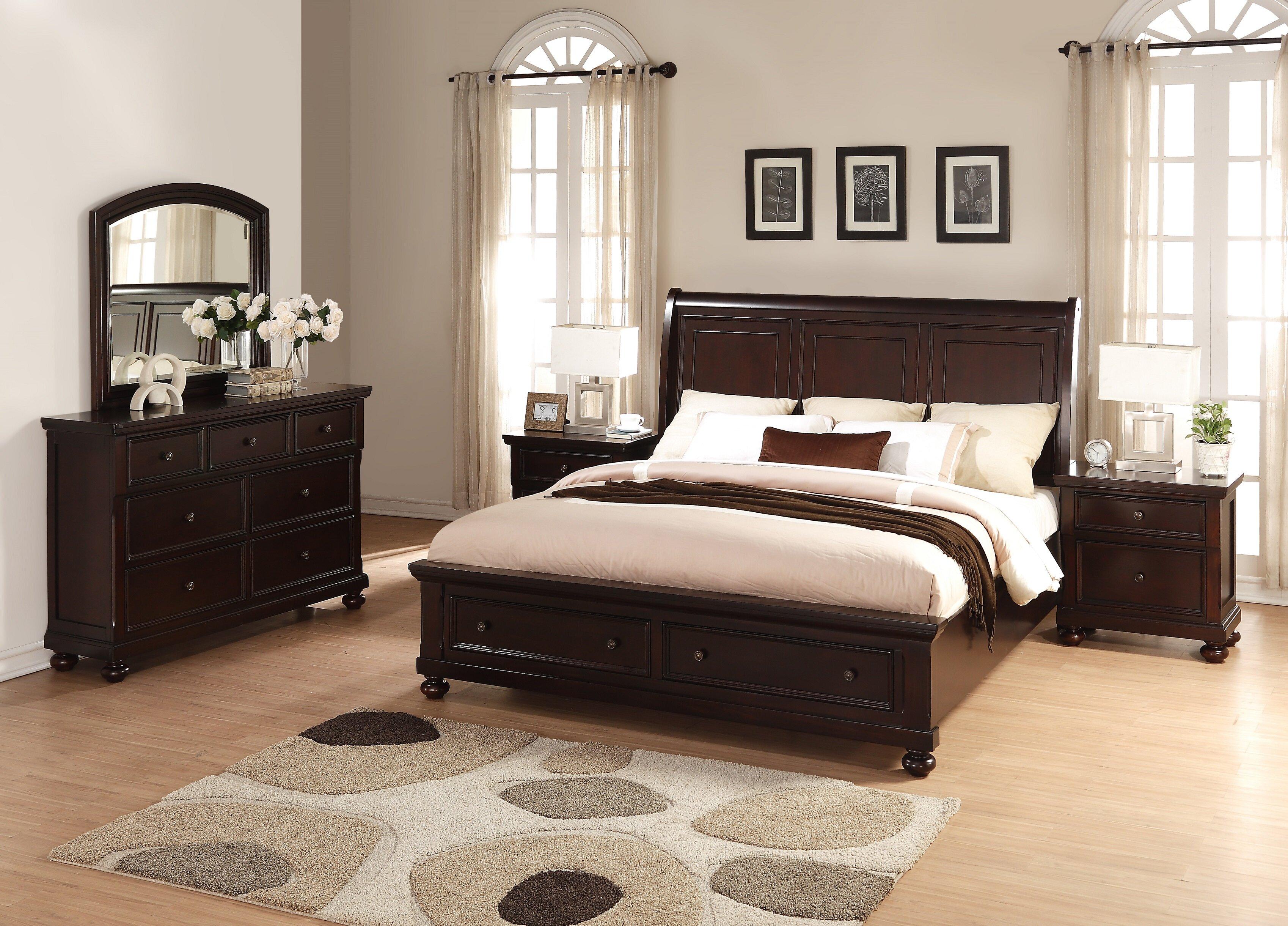 Breakwater bay jaimes king platform 5 piece bedroom set wayfair