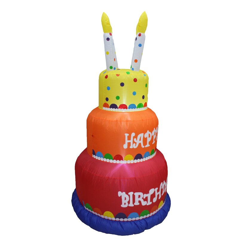 Swell The Party Aisle Tall Colorful Happy Birthday With Candles Blowup Funny Birthday Cards Online Unhofree Goldxyz
