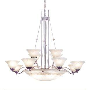 JB Hirsch Home Decor 15-Light Shaded Chandelier
