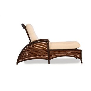 Lloyd Flanders Grand Traverse Reclining Chaise Lounge with Cushion