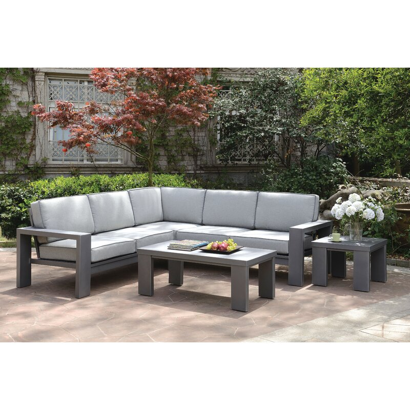 Orren Ellis Sherrell Patio Sectional Sofa Wayfair