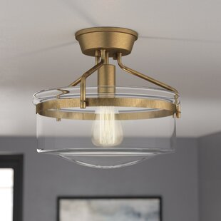 Stratford 1-Light Semi Flush Mount by George Oliver