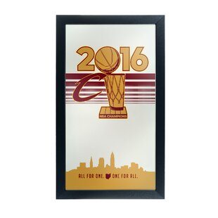Trademark Global NBA Cleveland Cavaliers 2016 Champions Graphic Art Accent Mirror