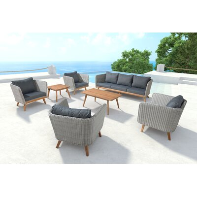 Des Moines 7 Seat Sofa Set With Cushion
