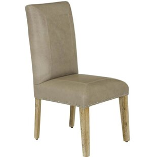 Hindman Genuine Leather Upholstered Dining Chair By Bungalow Rose