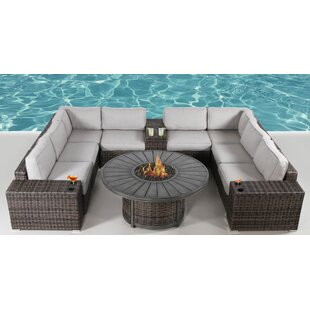 Turribridge 12 Piece Rattan Sectional Seating Group
